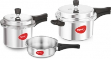 Pigeon Special Combo Pack 2 L, 3 L, 5 L Induction Bottom Pressure Cooker