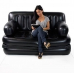 WDS 5 in 1 PVC 3 Seater Inflatable Sofa