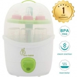 Rabbit Automatic Baby Bottle Steam Steriliser White Green