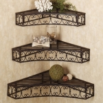 Racks set of 3 Wall Shelves & Bracket