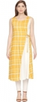 Only at Rs. 449 Women Solid Cotton Viscose Blend Flared Kurta