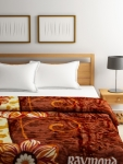Raymond Home Brown Printed Heavy Winter Double Blanket