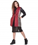Redrobe Suede Maroon Over coats for women