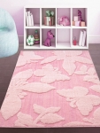 Pink Printed Anti Skid Floor Carpet