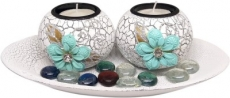 Saugat Traders Decorative Candles with Holder Showpiece