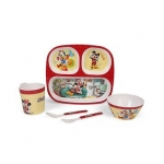 Servewell Feeding Set Mickey Mouse Print Pack of 5