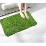 Shakrin Green Polyester Door Mat (60 cm x 40 cm) – Set Of 1