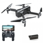 Foldable Brushless RC Drone 25min Flight Time RTF Black