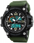 Army Green Chronograph Water Resistant Sports Watch