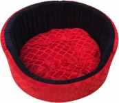 Slatters be royal store RBF104 S Pet Bed  (Red, Black)