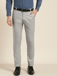Only at Rs. 895 Men Grey Smart Fit Solid Formal Trousers
