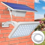 Solar Panel LED Light Sensor Wall Street Lamp