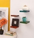Solid Wood Hand-Made Floating Wall Shelf (Set of 4)