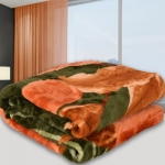 Spangle Floral Double Mink Blanket  (Polyester, Multicolor)