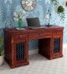 Stafford Solid Wood Study Table in Honey Oak Finish