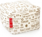 Large Square Cotton Canvas Abstract Printed Ottoman