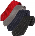 StyleRide Polka Print Tie  Cotton Blend (Pack of 4)