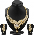 Sukkhi  Alloy Jewel Set Necklace (Gold)