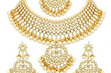 Only at Rs.439 Sukkhi Gold Plated Kundan Pearl Fancy Choker Necklace Set Traditional Jewellery Set with Earrings for Women & Girls