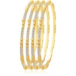 Sukkhi Ravishing Gold Plated AD Bangle For Women