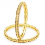 LCT Stone Gold Plated AD Bangle For Women