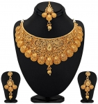 Sukkhi Traditional Gold Plated Kundan Choker Necklace Set