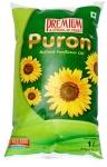 Sunflower Oil Puron Refined Sunflower Oil (1L) – Pack of 5