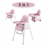 Syga 3 in 1 Cushioned High Chair – Pink
