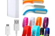 Snaptic USB Travel Charger LED Lamp and Waterproof LED Watch Combo
