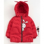 Co Full Sleeves Cartoon Patch Work Hooded Jacket – Red