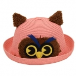Tiekart Owl Face Patch Hat Regular fit – Pink