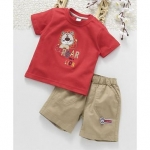 ToffyHouse Half Sleeves T-Shirt And Shorts Set