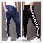 Men's Navy Cotton Blend Trackpants (Pack of 2)