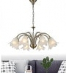 Transparent Glass Chandelier by Stello