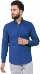 Only at Rs. 398 Men Solid Casual Mandarin Shirt