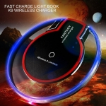 Ultra-Thin Crystal K9 Wireless Charger Fast Charge Round