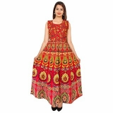 Women Jaipuri Traditional Multicolor Printed Dress