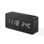 Digoo DG-AC2 3 Mode Wooden Voice Control LED Digital Alarm Clock