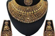 Vatsalya Creation  Alloy Jewel Set  (Gold, Bronze)