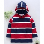 Ventra Striped Front Pocket Full Sleeves Hoodie