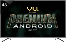 Vu Premium Android 108cm (43 inch) Ultra HD (4K) LED Smart TV