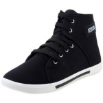 Weldone Black Lace-up Canvas Air Mix Sneakers/Casual Shoes