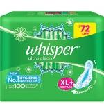 Whisper Ultra Clean Sanitary Pads for Women 50 Napkins
