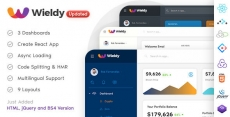 Wieldy – React Admin Template Ant Design and Redux