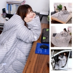 Winter Lazy Quilt With Sleeves Warm Thickened Blankets