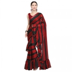 Womanista Crepe Saree with Blouse Piece