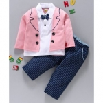 Wow Clothes Full Sleeves Tee With Mock Jacket & Trouser