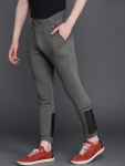 Men Charcoal Grey Slim Fit Solid Joggers