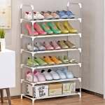 FurnCentral Metal Shoe Stand  (6 Shelves)