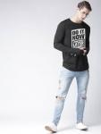 Young Trendz Conversational Men Round or Crew Black T-Shirt
